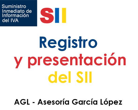 Registro y presentación del SII. Cómputo del plazo de cuatro días