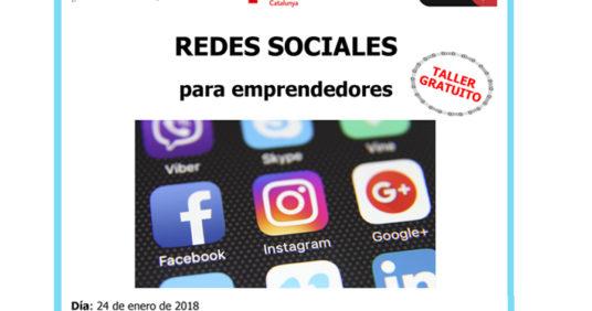 Taller gratuito Redes Sociales para emprendedores