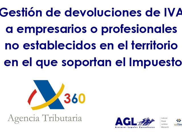Modelo 360 – IVA. Gestión de devoluciones a empresarios o profesionales no establecidos en el territorio en el que soportan el Impuesto