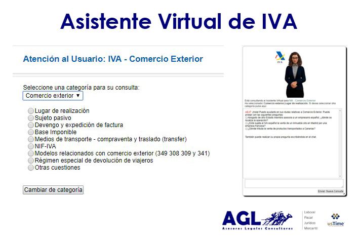 Asistente Virtual de IVA y la ampliación del Localizador para las entregas de bienes o servicios