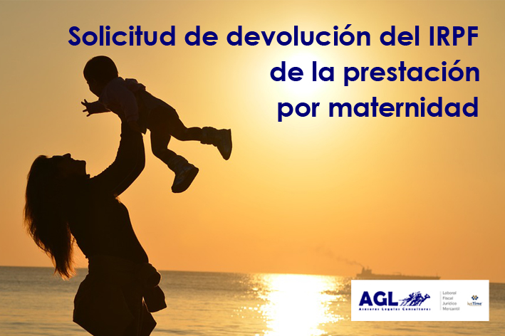 Solicitud de devolución de IRPF por exención de las prestaciones por maternidad