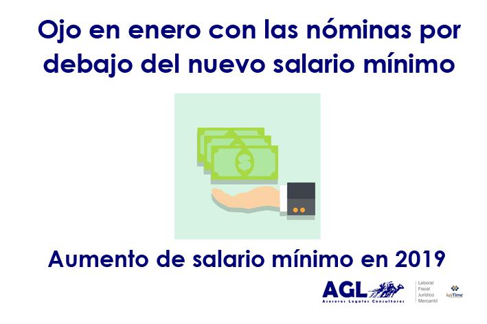 AUMENTO DEL SALARIO MÍNIMO EN 2019