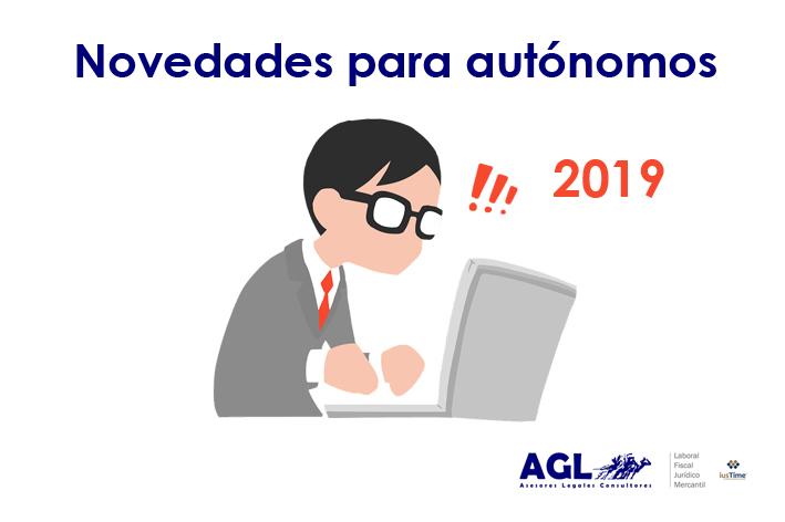 NOVEDADES PARA AUTÓNOMOS 2019