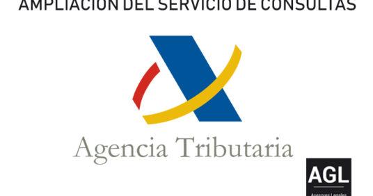 AMPLIACIÓN DEL SERVICIO DE CONSULTAS EN LA AGENCIA TRIBUTARIA