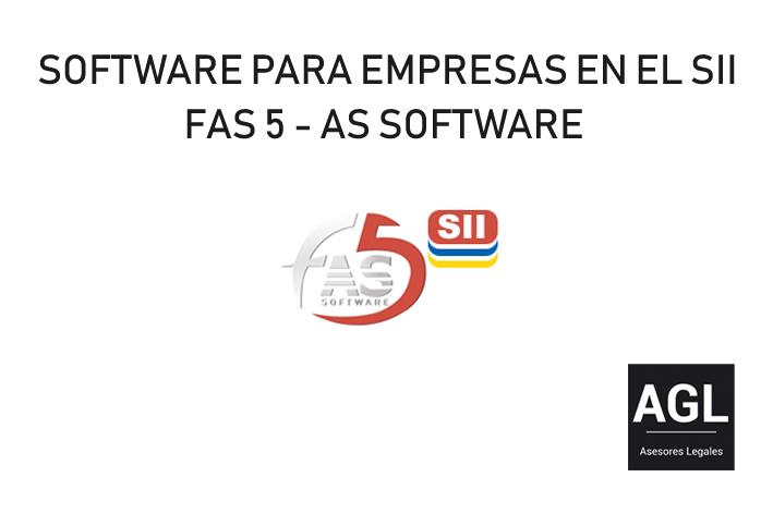 SOFTWARE PARA EMPRESAS EN EL SII. FAS 5 DE AS SOFTWARE