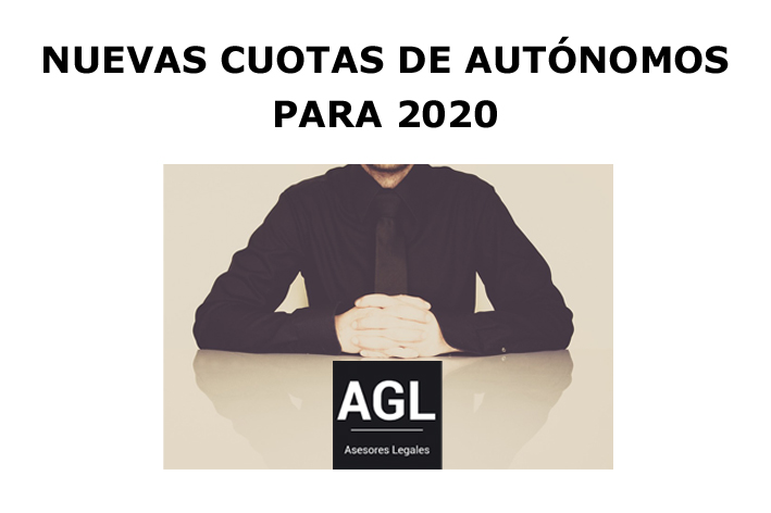 NUEVAS CUOTAS DE AUTÓNOMOS PARA 2020