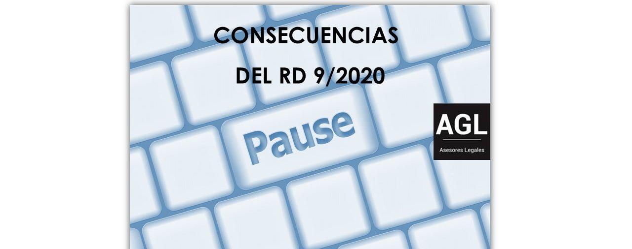 CONSECUENCIAS DEL RD 9/2020