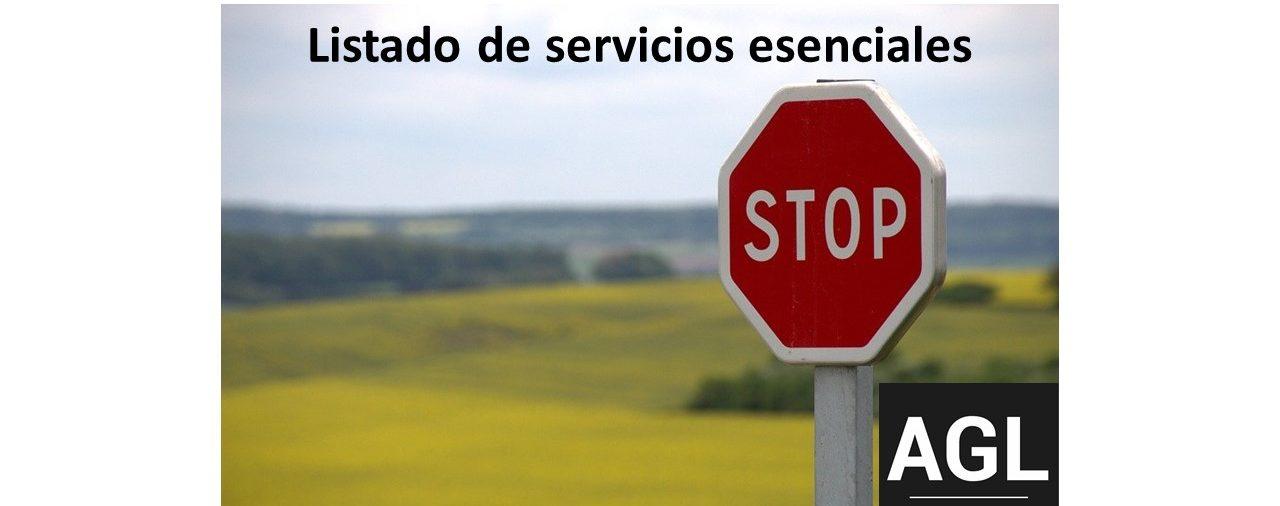 PERMISO RETRIBUIDO HASTA EL 9 DE MARZO. LISTADO DE SERVICIOS ESENCIALES