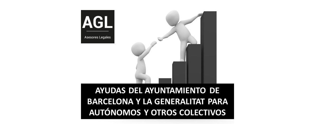 AYUDAS DEL AYUNTAMIENTO DE BARCELONA Y LA GENERALITAT PARA AUTÓNOMOS Y OTROS COLECTIVOS
