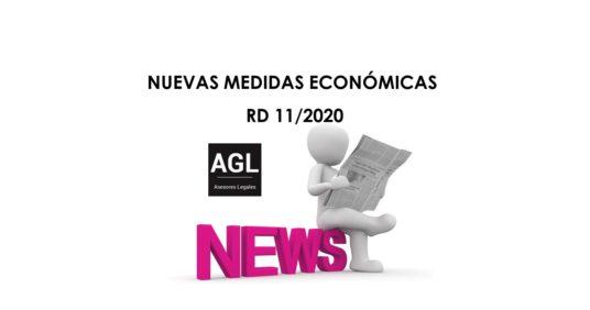 NUEVAS MEDIDAS ECONÓMICAS RD 11/2020