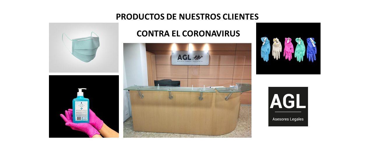 PRODUCTOS DE NUESTROS CLIENTES CONTRA EL CORONAVIRUS