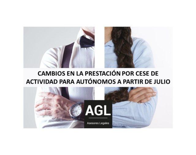 CAMBIOS EN LA PRESTACIÓN POR CESE DE ACTIVIDAD PARA AUTÓNOMOS A PARTIR DE JULIO