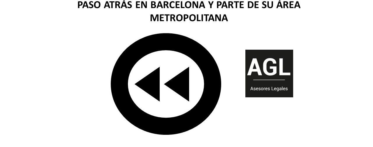 PASO ATRÁS EN BARCELONA Y PARTE DE SU ÁREA METROPOLITANA
