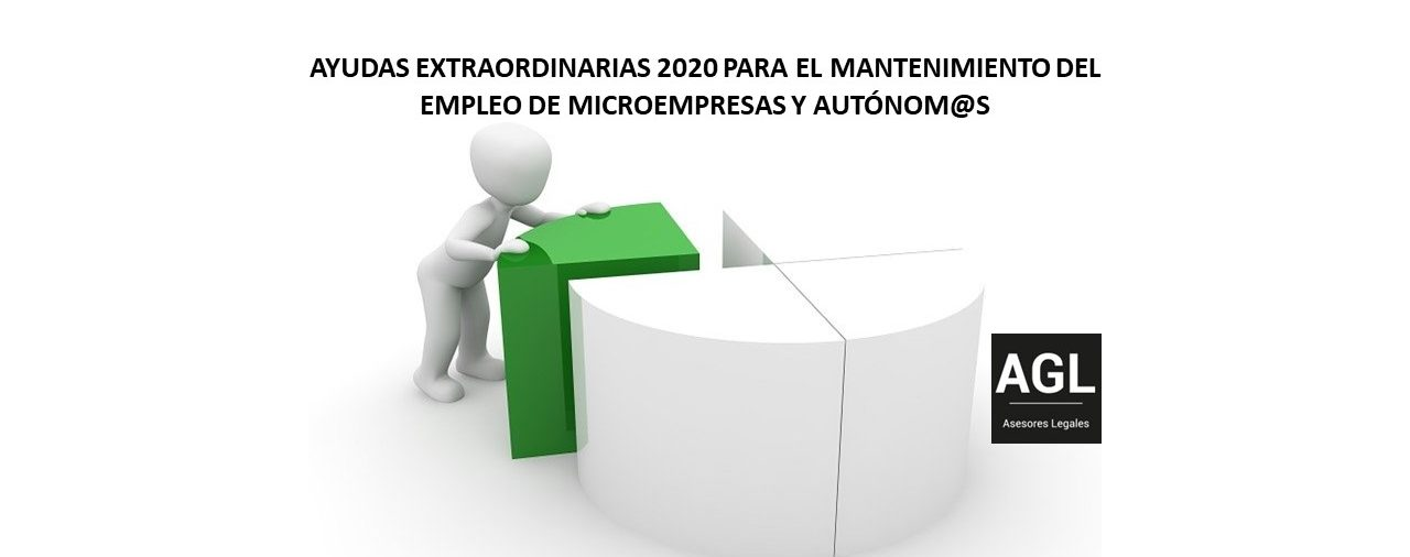AYUDAS EXTRAORDINARIAS 2020 PARA EL MANTENIMIENTO DEL EMPLEO DE MICROEMPRESAS Y AUTÓNOM@S