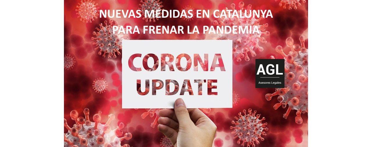 NUEVAS MEDIDAS EN CATALUNYA PARA FRENAR LA PANDEMIA
