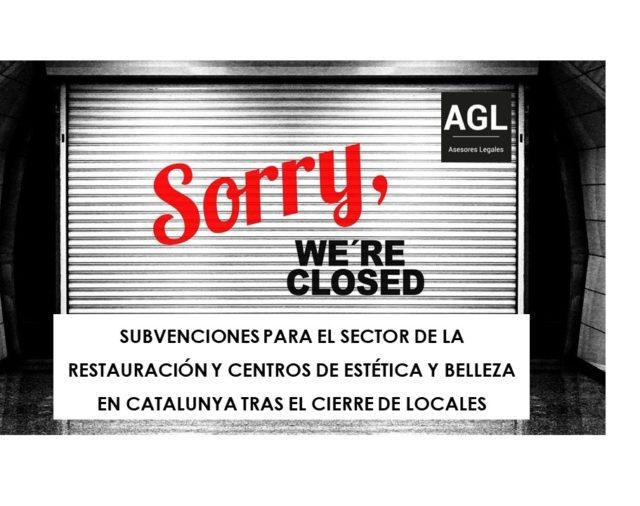SUBVENCIONES PARA EL SECTOR DE LA RESTAURACIÓN Y CENTROS DE ESTÉTICA Y BELLEZA EN CATALUNYA TRAS EL CIERRE DE LOCALES