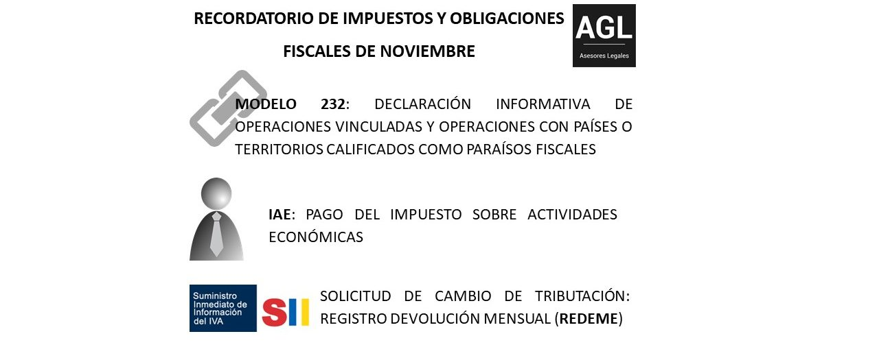 RECORDATORIO DE IMPUESTOS Y OBLIGACIONES FISCALES DE NOVIEMBRE