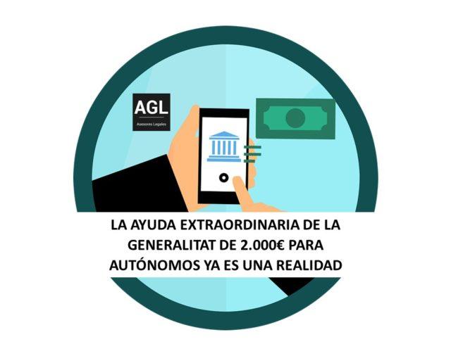 LA AYUDA EXTRAORDINARIA DE LA GENERALITAT DE 2.000€ PARA AUTÓNOMOS YA ES UNA REALIDAD