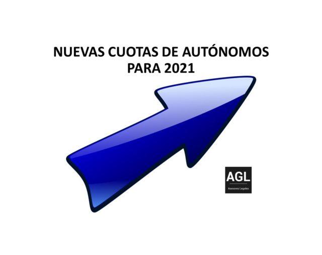 NUEVAS CUOTAS DE AUTÓNOMOS PARA 2021