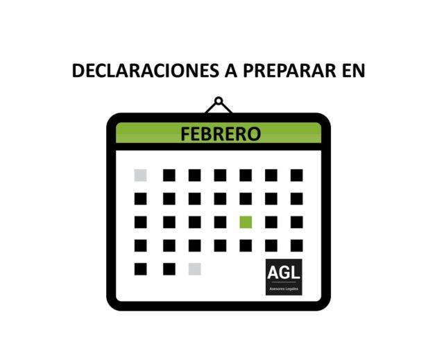 DECLARACIONES A PREPARAR EN FEBRERO