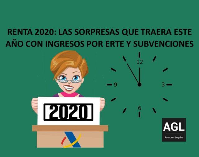 RENTA 2020: LAS SORPRESAS QUE TRAERA ESTE AÑO CON INGRESOS POR ERTE Y SUBVENCIONES