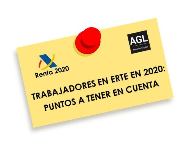 TRABAJADORES EN ERTE EN 2020: PUNTOS A TENER EN CUENTA
