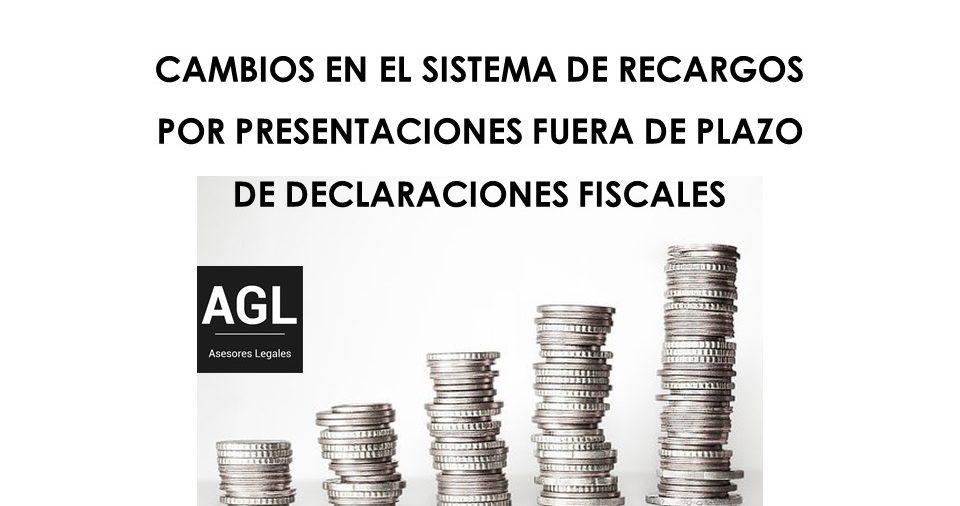 CAMBIOS EN EL SISTEMA DE RECARGOS POR PRESENTACIONES FUERA DE PLAZO DE DECLARACIONES FISCALES
